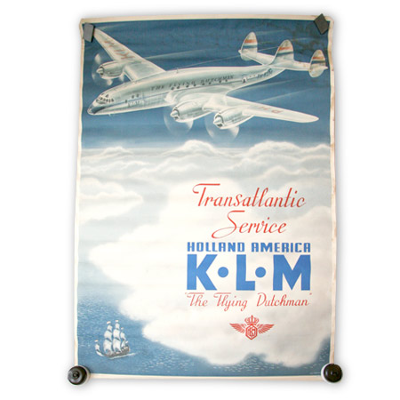Vintage KLM Flying Dutchman poster