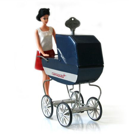 Barbie doll with Comando baby carriage